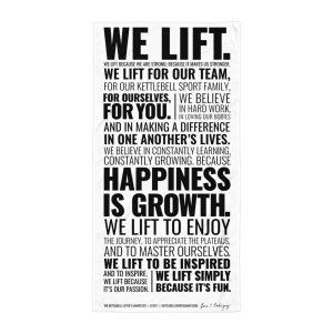 Kettlebell Lifter's Manifesto