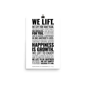 Kettlebell Lifter's Manifesto – Premium Luster Photo Paper