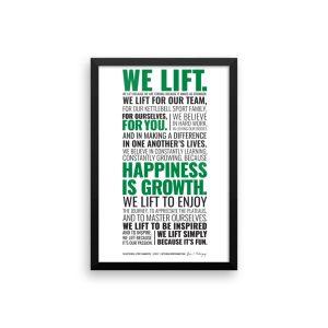 Kettlebell Lifter's Manifesto – Framed